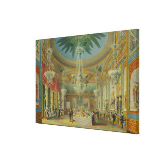 Banqueting Room, from 'Views of Royal Pavilion Canvas Print
