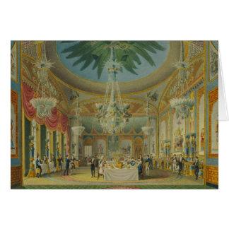 Banqueting Room, from 'Views of Royal Pavilion Card
