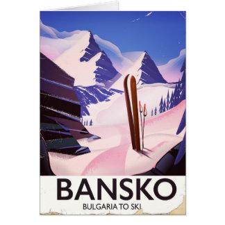 Bansko Bulgaria To Ski Card
