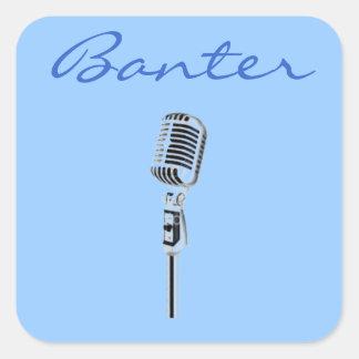 Banter Microphone Square Sticker