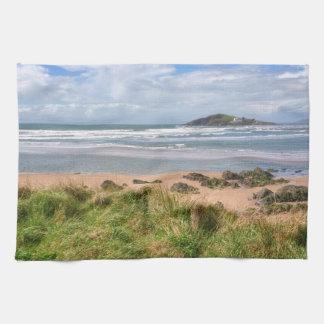 Bantham and Burgh Island View Tea Towel