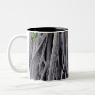 Banyan Tree Trunk Two-Tone Coffee Mug