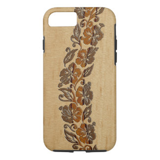 Banyans Hawaiian Hibiscus Faux Wood Surfboard iPhone 8/7 Case