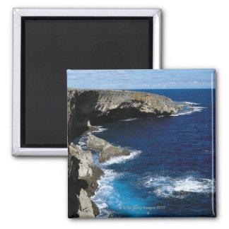 Banzai Cliff Square Magnet