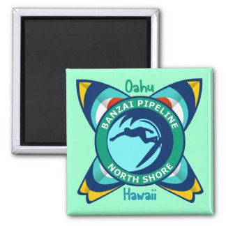 Banzai Pipeline North Shore Square Magnet