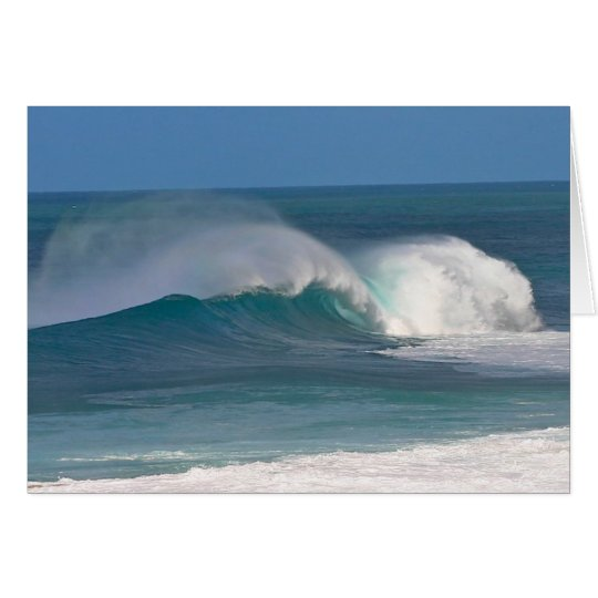 Banzai Pipeline Waves Card