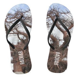 Baobab Print Funky Flip Flops