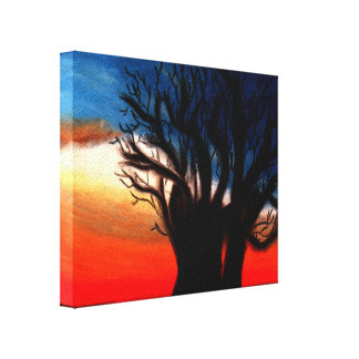 Baobab Tree Painting Stretched Canvas Print