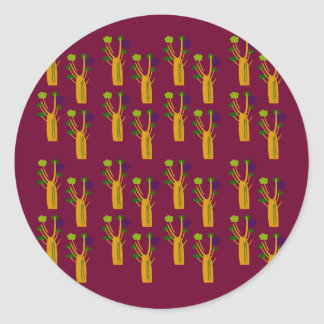 Baobabs chocolate classic round sticker
