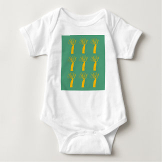 Baobabs gold on eco green baby bodysuit