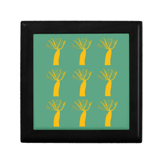 Baobabs gold on eco green gift box