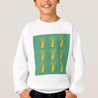 Baobabs gold on eco green sweatshirt