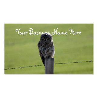 BAOW Barred Owl Business Card Template