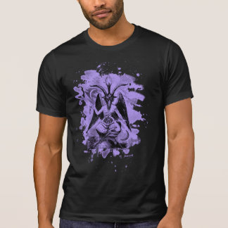 Baphomet - bleached violet tee shirts