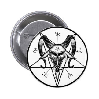 Baphomet Button/Pin 6 Cm Round Badge