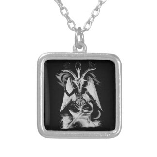 Baphomet Large Silver Plated Necklace