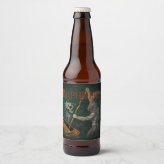 Baphomet (Name and Style) Beer Bottle Label