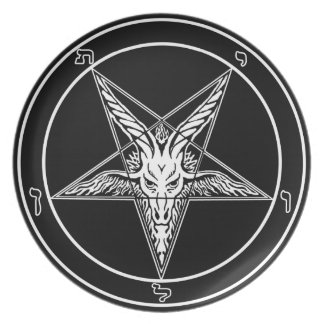 """Baphomet Old Style 10"""" plate"""