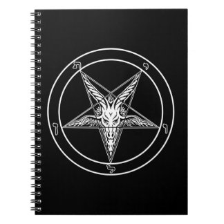 Baphomet Old Style Spiral Notebook
