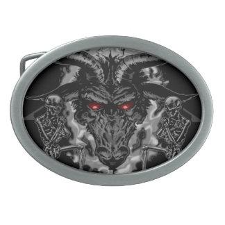 Baphomet Pentagram Black Metal Belt Buckles