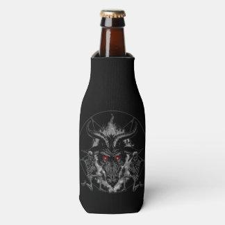 Baphomet Pentagram Black Metal Bottle Cooler