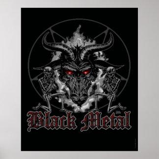 Baphomet Pentagram Black Metal Poster