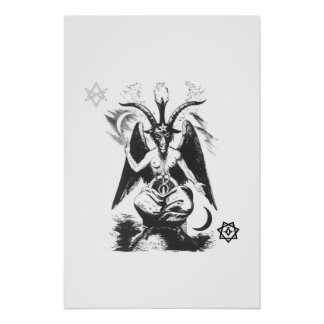 Baphomet with Sacred Seals Poster