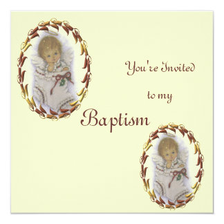 Baptism 13 Cm X 13 Cm Square Invitation Card