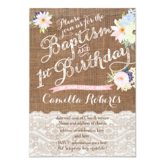 Baptism and Birthday invitations, 1st Birthday 13 Cm X 18 Cm Invitation Card