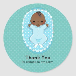 Baptism baby * choose background color round sticker