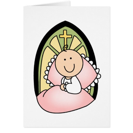 Baptism Baby Girl Greeting Cards