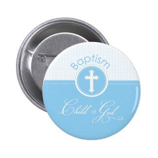 Baptism Blue Child of God, Customizable 6 Cm Round Badge