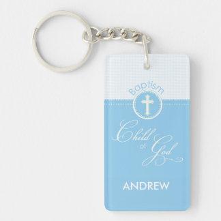 Baptism Blue Child of God, Customizable Key Ring