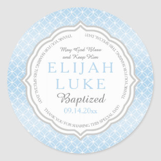 Baptism | Boy Eternity Rings Round Sticker