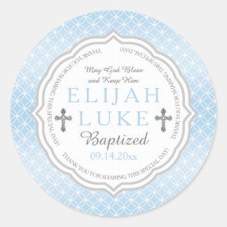 Baptism | Boy Eternity Rings Round Sticker