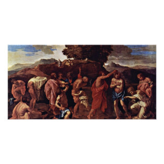 Baptism By Poussin Nicolas (Best Quality) Picture Card