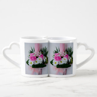 Baptism candle coffee mug set