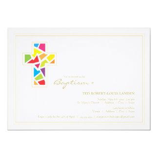 "Baptism | Christening Invitation 5"" X 7"" Invitation Card"