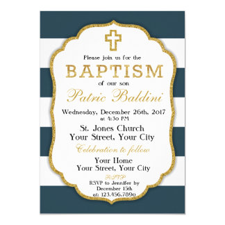 Baptism, Christening Invitation for a BOY