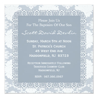 Baptism/Christening Invitation for Boy