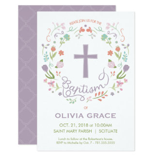 Baptism, Christening Invite for Girl - Customise
