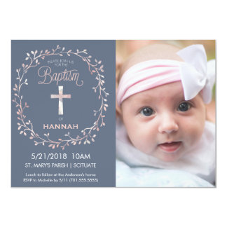 Baptism, Christening Photo Invitation - Baby Girl