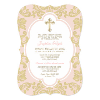 Baptism Invitation | Elegant Gold Flourish