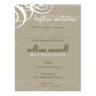 BAPTISM INVITE :: designer vogue 9 Postcard