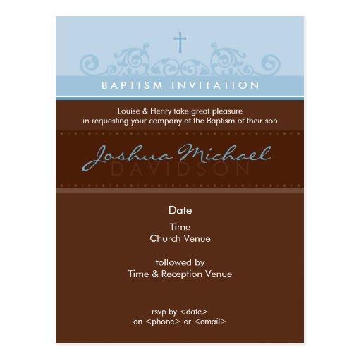 BAPTISM INVITE :: elegant 3 Post Cards