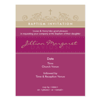 BAPTISM INVITE :: elegant 4 Post Cards