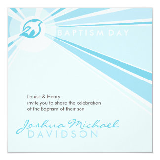 BAPTISM INVITES :: modern dove 9SQ