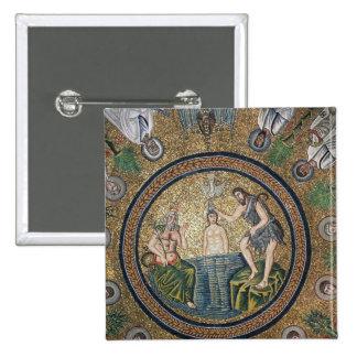 Baptism of Christ 15 Cm Square Badge