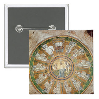 Baptism of Christ 2 15 Cm Square Badge