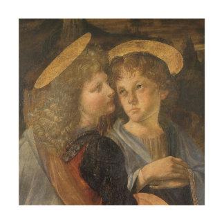 Baptism of Christ Angels by Leonardo da Vinci Wood Canvas